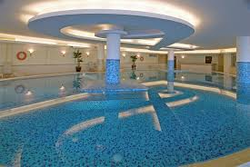 image of indoor pool light fixture