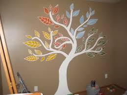 Four-Seasons Tree mural, painted for my baby's nursery. I love gender-