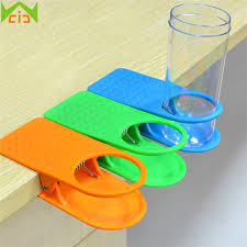 wcic desk cup holder drink clip lap table folder reading creative design home office table manager