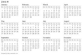 2019 Printable Calendar Templates [Free]** | Printable Calendar 2019 ...