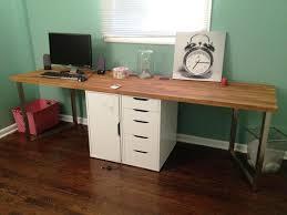 butcher block desk top diy