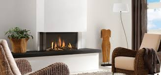 3 sided fireplace with clean modern styling