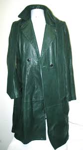 this beautiful long jacket lost it s usefulness in green and so it s was re purposed to black it s back with it s owner and on cold days it might be