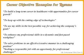 Writing Objectives In Resume. Sample Objectives For Resume. Sample ...