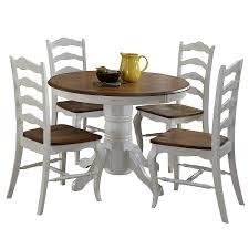 Amazoncom French Countryside Oakwhite 42 Round Pedestal Dining