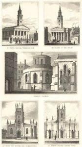 LONDON CHURCH.St.John,Waterloo; St.Martin-Fields;Temple;St.Mark Evangelist  1832 | eBay