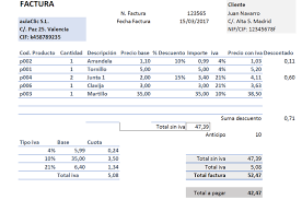 formato para facturas en excel excel avanzado crear una factura