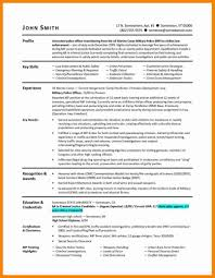 Template Free Military Resume Builder Air Force To Civilian