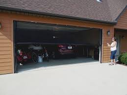 garage door screensFrancis ZIPROLL Screen  Outdoor Retractable Garage Screen Photo