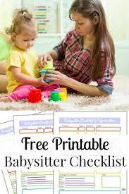 Babysitter Information Sheets Babysitter Information Sheet Free Printable Organized 31