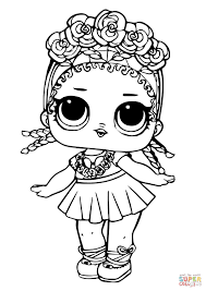 Lol Doll Coconut Qt Coloring Page Free Printable Coloring Pages