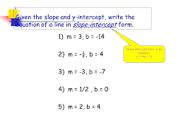 Y Mx B Worksheets Together With Gradient Slope Intercept 4 Amazing ...