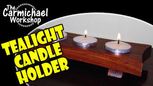 Diy Tea Light Candle Holders How To Make A Tealight Candle Holder Easy Diy Woodworking Project