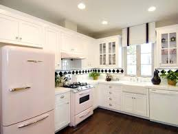 interior design kitchen white. Kitchen:Kitchen Designs Designlens Retro White Pink Kitchen Decorating With Interior Design S