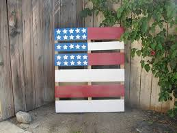 decorative pallet painted in an american flag pattern