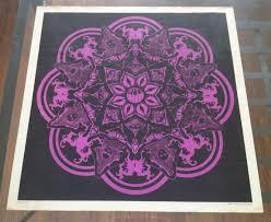 Black Light Coloring Posters Vintage Original Black Light Poster Sirkia 1967 Psychedelic