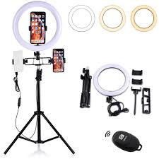 Table Ring Light For Makeup Us 10 98 30 Off Led Ring Light With Tripod Stand For Youtube Video Beauty Table Top Makeup Lamp Desktop Mini Led Camera Light 3 Phone Holder In