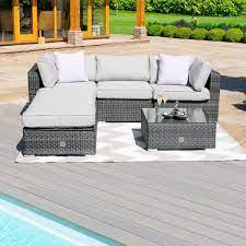 rattan garden furniture rio grey corner