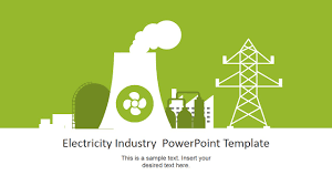 nuclear powerpoint template. Nuclear Power Plant Vector for Electricity Industry PowerPoint