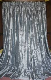 french country solid silk lined curtains