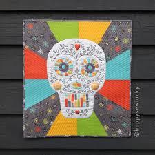 Ola, Sugar Skull Pattern! | happy sew lucky patterns & kits & Sugar Skull Quilt Adamdwight.com