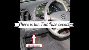 97 Toyota Camry Brake Light Camry 2001 Replace Tail Lights Fuse Youtube