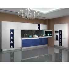 Customized Kitchen Cabinets Awesome Flashing White Blue High Gloss Lacquer Guangzhou Wholesale Export