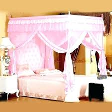 Mosquito Mesh Bed Canopy Hanging Net Curtains Easy Ceiling Canopies ...