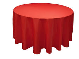 120 round table cloth polyester red