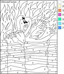 Difficult Color Number Coloring Pages Hard Color By Difficult Color
