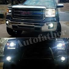 2014 Gmc Sierra Led Fog Lights Details About Autofather Led Headlight 9012 Fog Light Bulb 5202 For Gmc Sierra 1500 2014 2015
