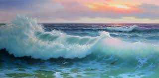 oil painting sea wave another picture and gallery about wall painting dallas cowboys tile