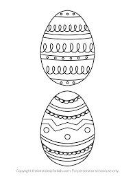 It helps to develop motor skills, imagination and patience. Easter Egg Template The Best Ideas For Kids