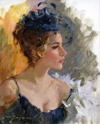 romantic paintings by yuri matsik beautiful female portraits by konstantin makovsky
