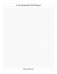 1 Cm Isometric Grid Paper Portrait A