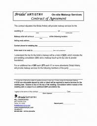 Reference Templates. Makeup Contract Template - Advertising Templates
