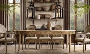 hanging two pendants over a long table creates drama in the dining room