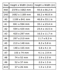 Paper Size Chart Pdf 43 Clean Paper Size Chart For Printing