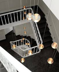 stunning long hanging lights stairway led home crystal ball pendant staircase lighting new york pro modern simple style crystal hanging