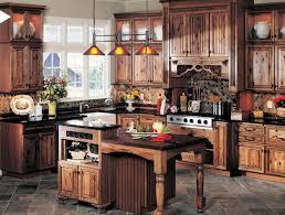 Rustic Country Kitchens Rustic Country Kitchen Decor U Shaped Brown Varnished Maple Wood