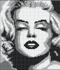 Free Marilyn Monroe Embroidery Designs Marilyn Monroe Pattern Geek Cross Stitch Beaded Cross