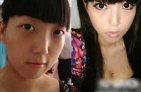 asian s before and after make up