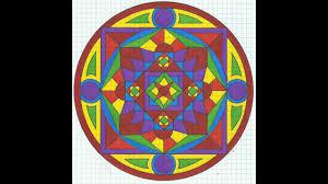 Rainbow Graph Paper Mandala Tiffany Lovering Youtube