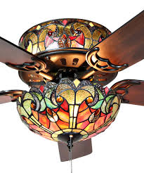 Tiffany Ceiling Fan Light Shades River Of Goods Spice Tiffany Style Stained Glass Vivaldi
