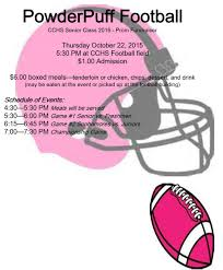 powder puff football flyers powder puff football prom fundraiser clinton county high school