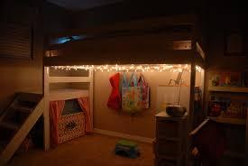lighted diy loft bed