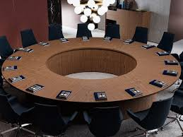 round wooden meeting table bespoke conference tables round meeting table by prof
