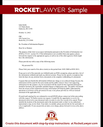 Freedom Of Information Request Letter Template With Sample