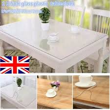 uk transpa soft glass pvc tablecloth dinning table cover protector desk mat for