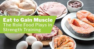 eat to gain muscle the role food plays